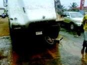 truck crushes okada