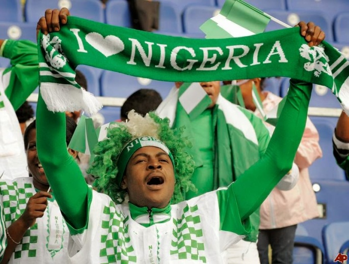 Image result for 5,000 supporters club members for Nigeria-Algeria match