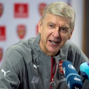 ST ALBANS, ENGLAND - SEPTEMBER 30:  Arsenal manager, Arsene Wenger attends a press conference at  London Colney training ground on September 30, 2016 in St Albans, England.   (Photo by Alan Walter/Arsenal FC via Getty Images)
