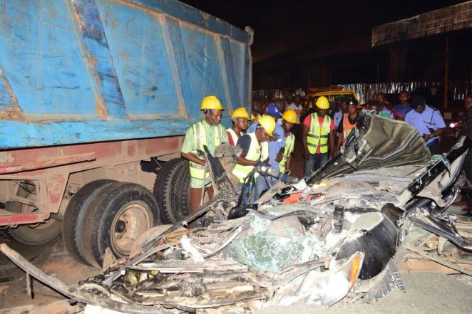 Image result for Lagos mechanic crushes tipper driver to death, injures two