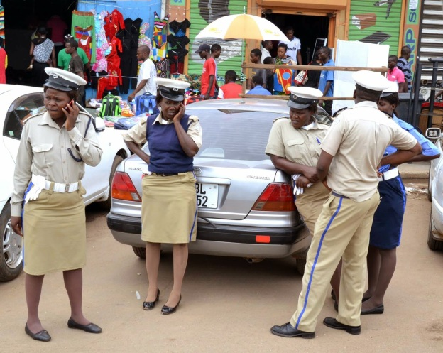 Zambian Police Officers On Duty